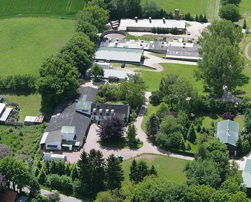 Luftaufnahme vom Hornbrooker Hof