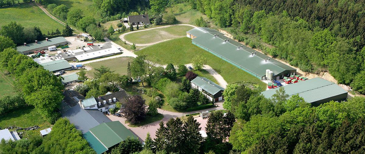 Luftbild vom Hornbrooker Hof
